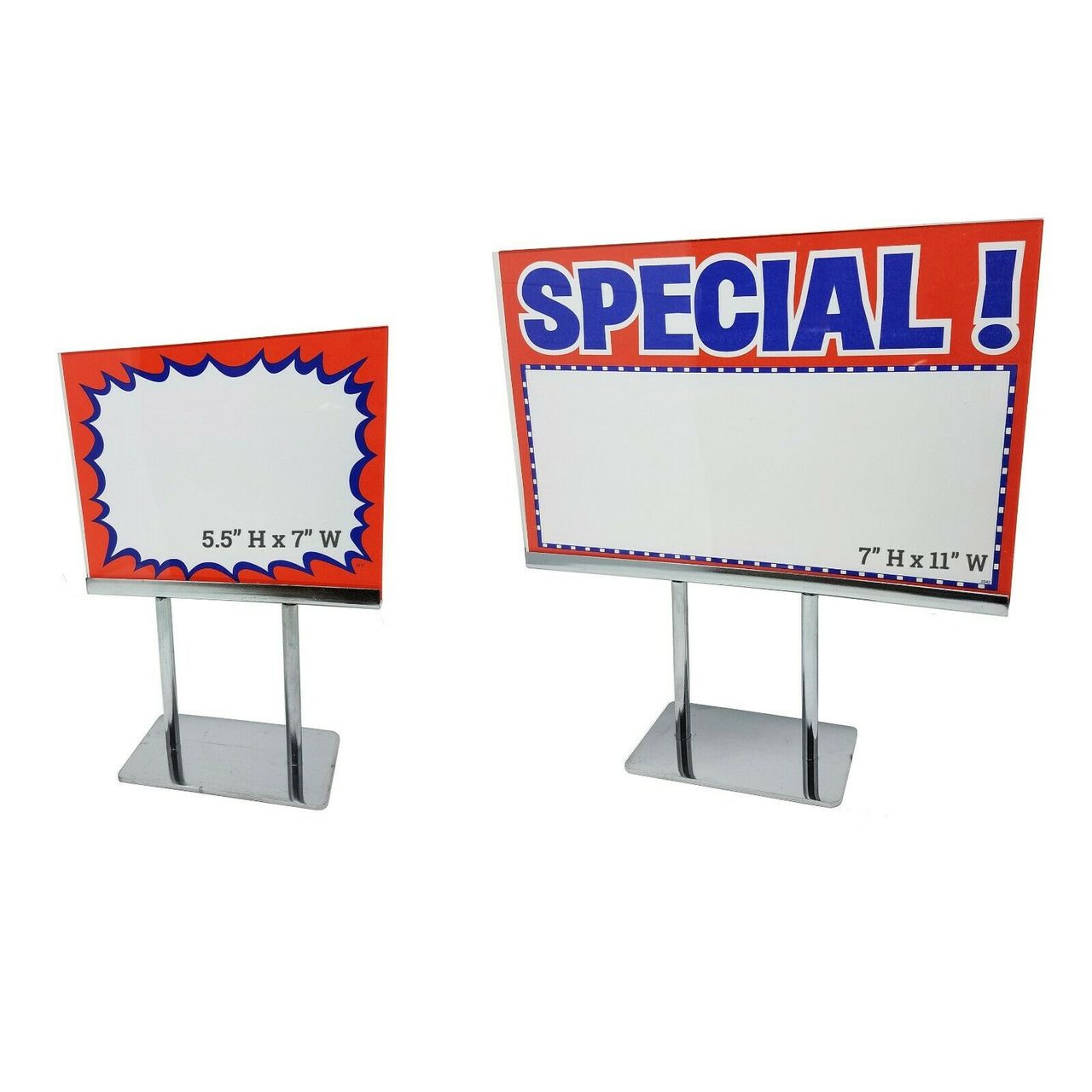 Countertop Signs Countertop Acrylic Frame Sign Holder Heavy Duty Chrome Base Tabletop Card Display 10