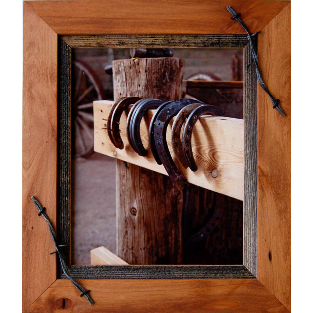 12x16 Western Frames 12x16 Wood Frame With Barbed Wire Sagebrush Series