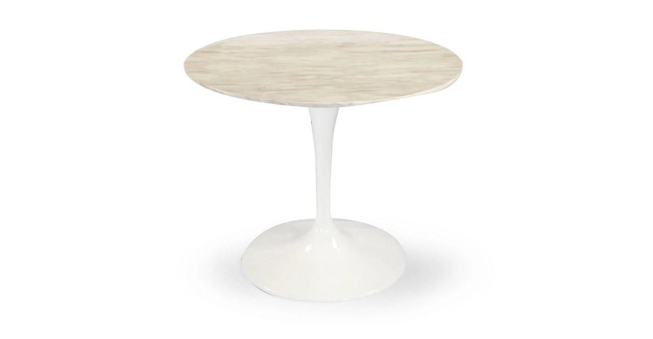 Tulip Table Tulip Table White Marble 48