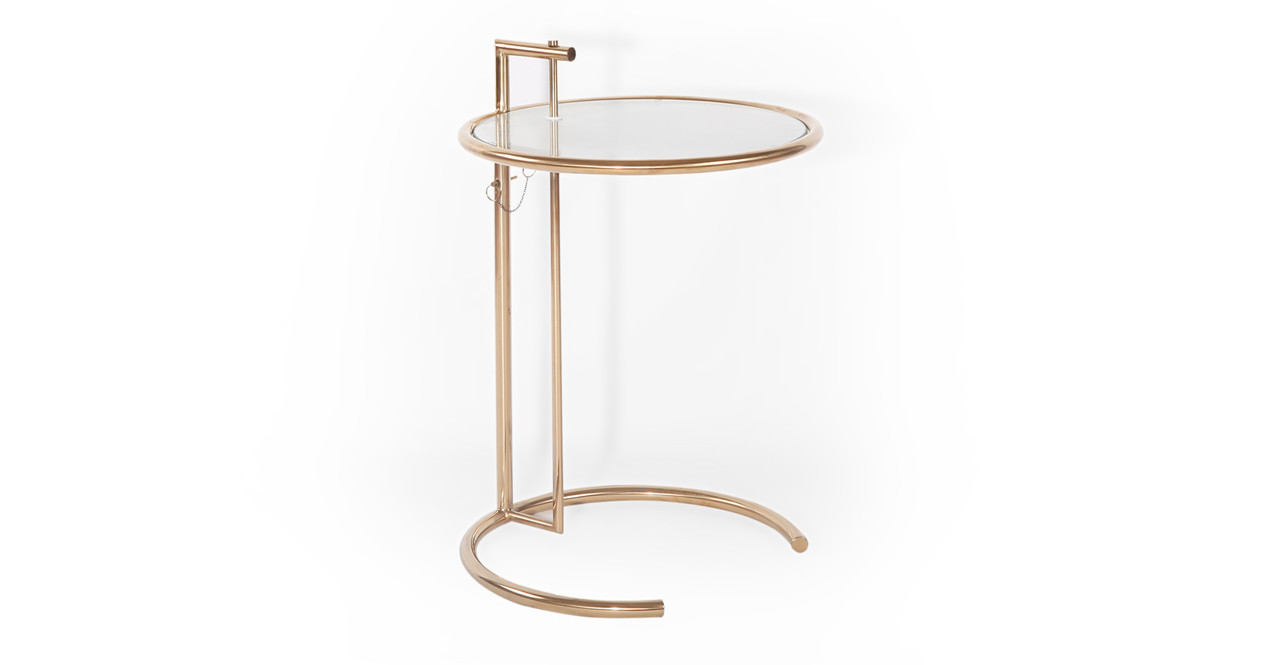 Eileen Gray Table Eileen Gray Table Gold Finish