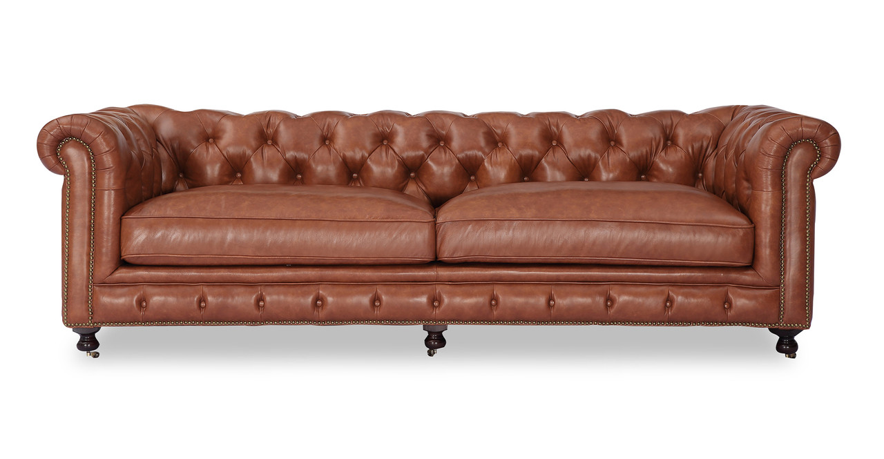 Chesterfield Lounge Chesterfield Sofa Cognac Vintage Distressed Leather