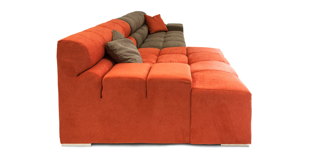 Couch Polstermöbel Cubix Sofa Sectional Left Plush Coral Mushroom
