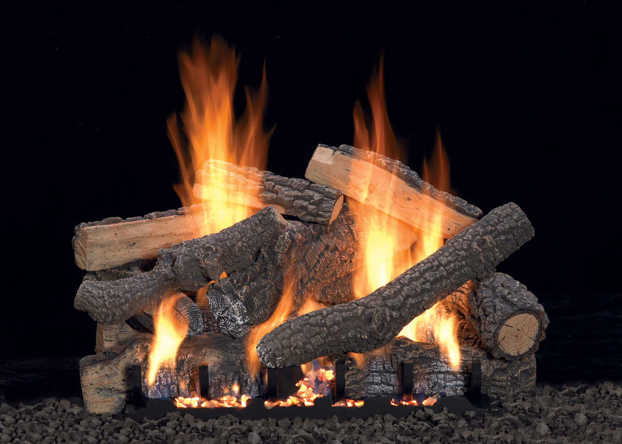 How Does A Vent Free Gas Fireplace Work White Mountain Hearth Ponderosa Log Set Choice Of Vent Free Burner