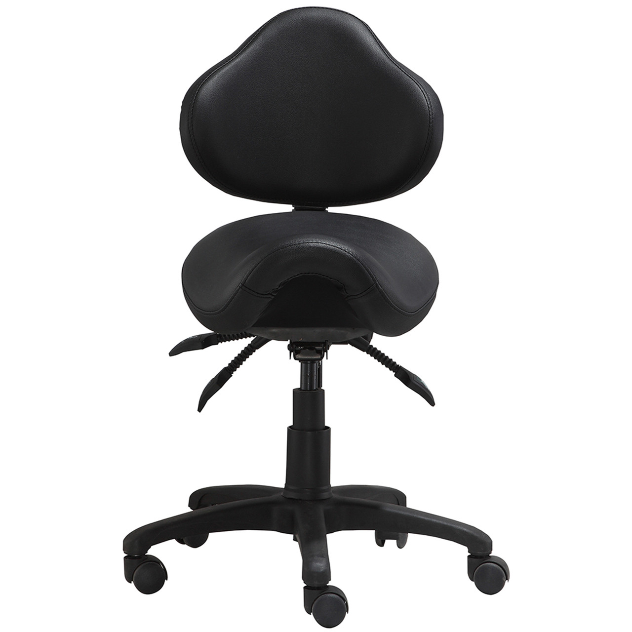 Saddle Office Chair Adjustable Rolling Saddle Stool With Adjustable Seat And Backrest