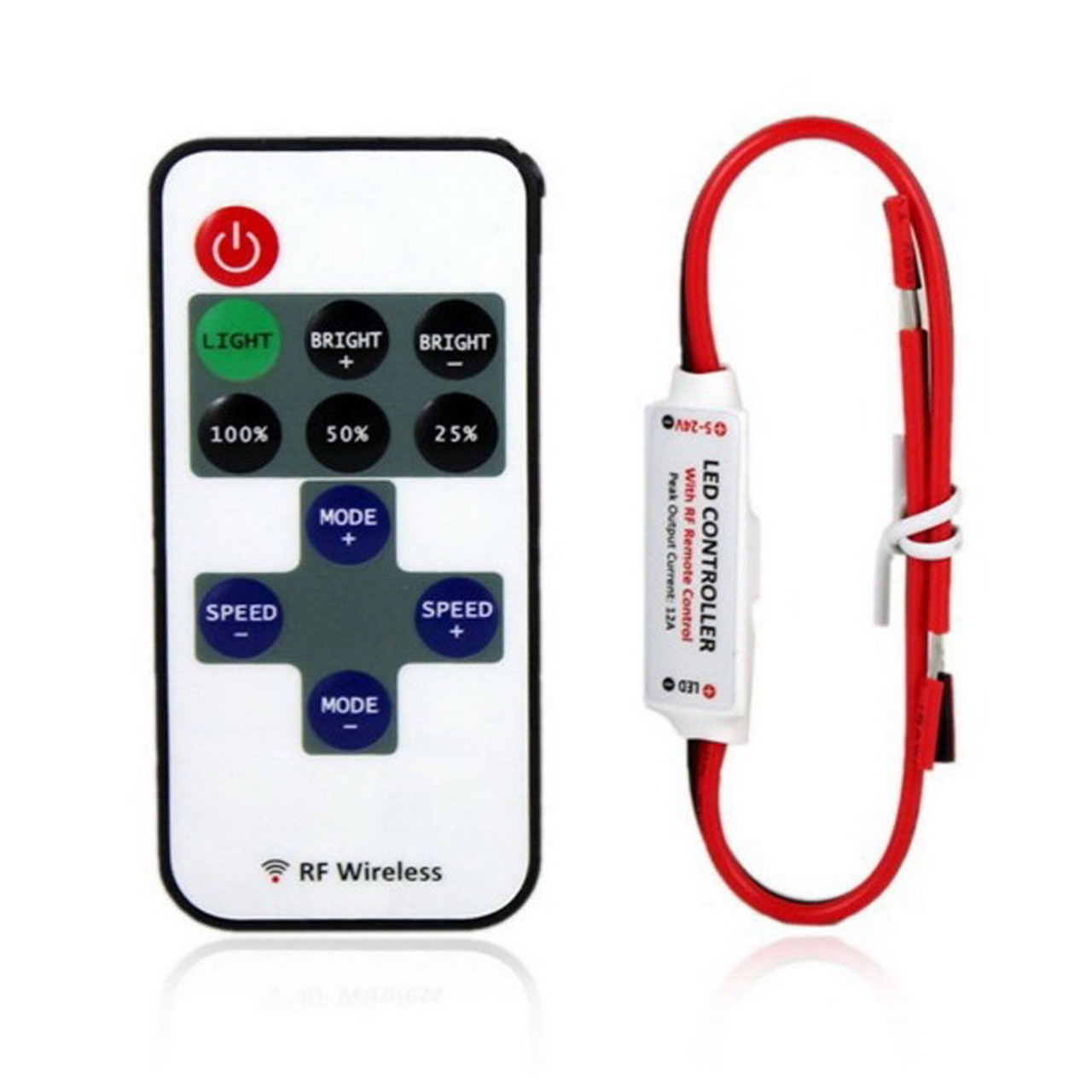 Rgb Dimmer Remote Control Led Dimmer Or Rgb Controller Dm Rf 12a