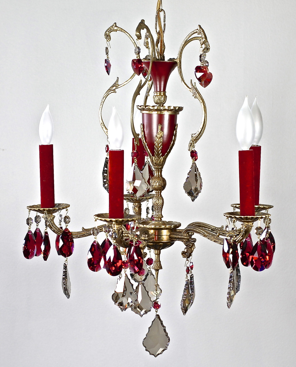 Spanish Chandelier Golden Bordeaux Chandelier