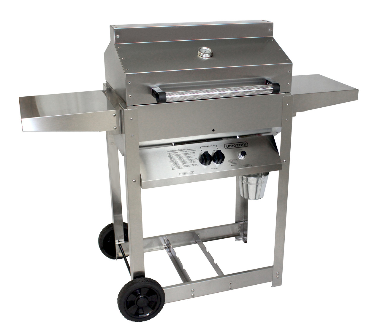 Napoleon Lex485rsib Propane Bbq Phoenix Grill Sd Stainless Steel Propane Gas Riveted Grill Head On Stainless Steel Cart