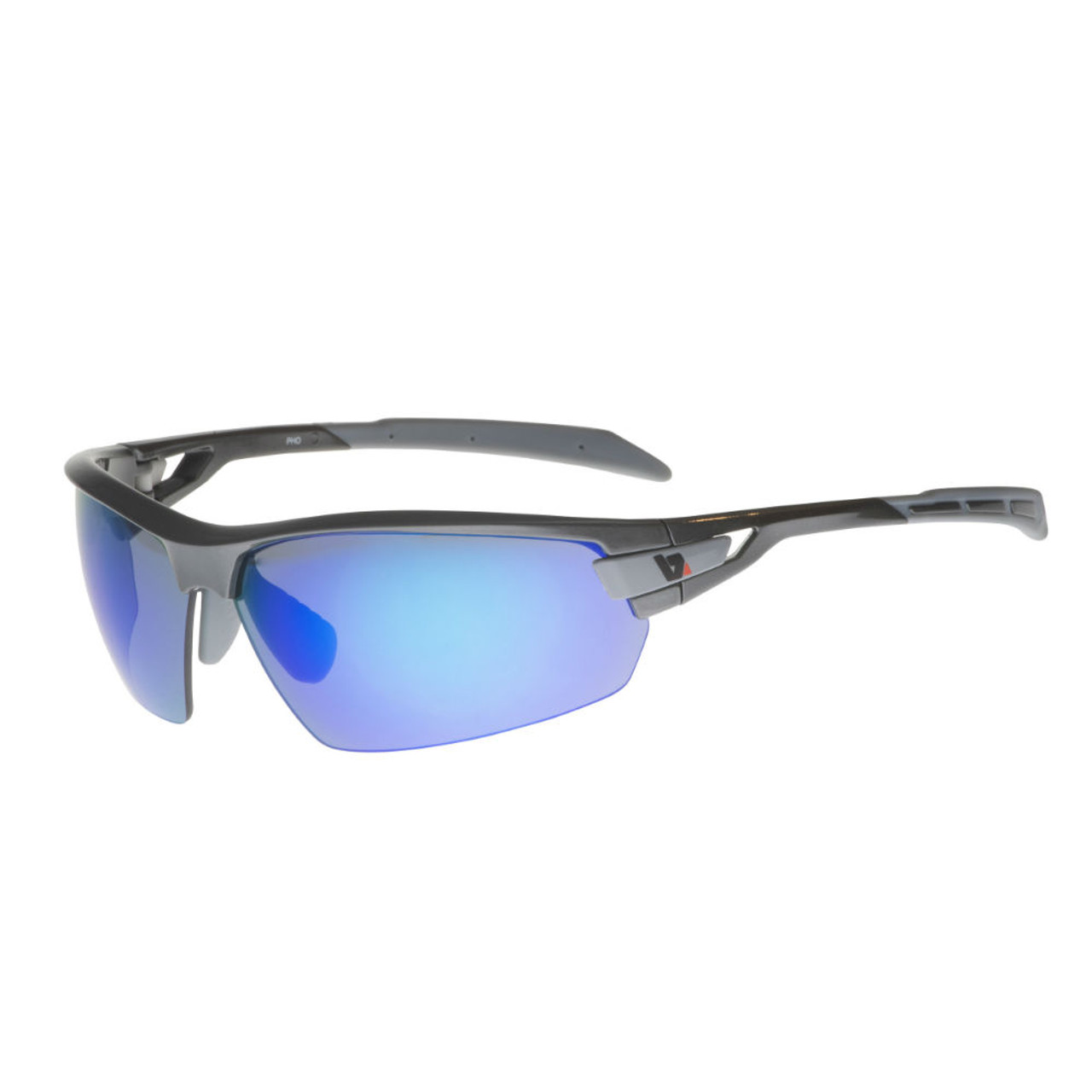 Mirror Frame Glasses Bz Optics Sports Sunglasses Pho Graphite Frame Blue Mirror Lens