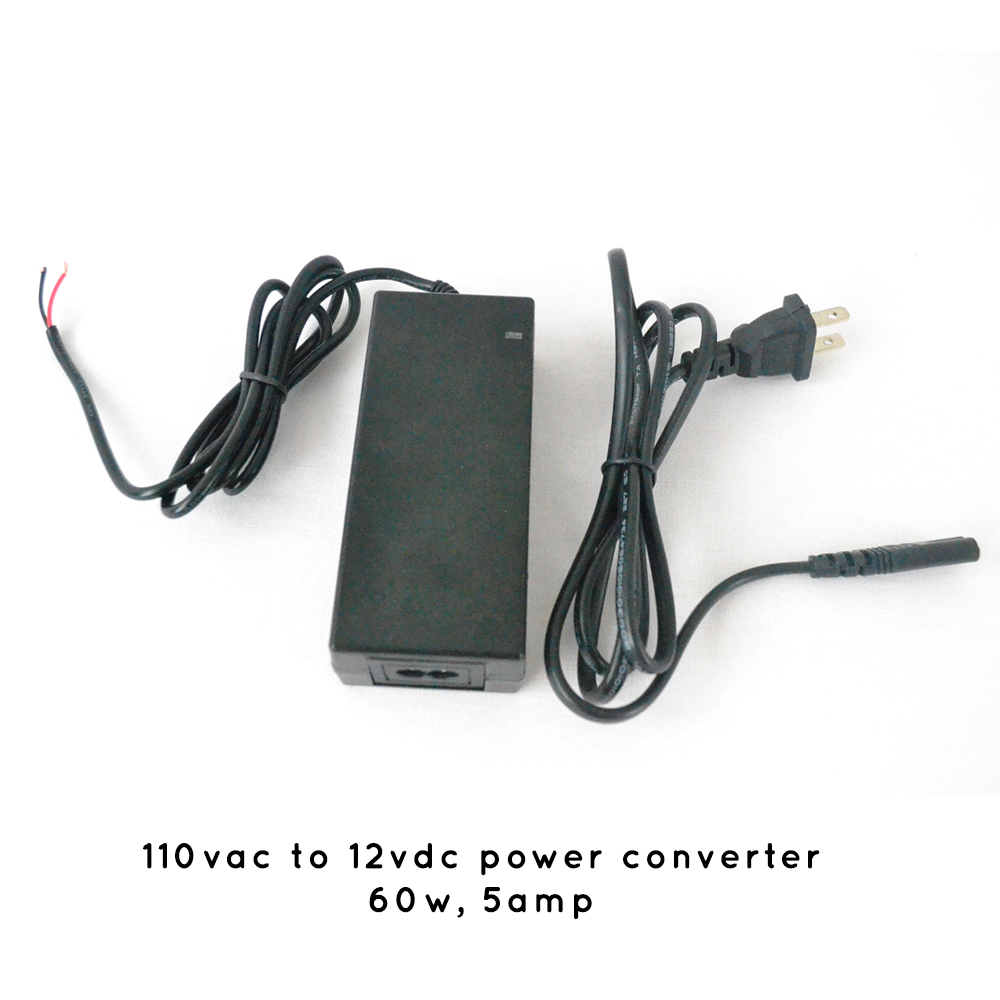 Ac Converter 5 Amp 110vac To 12vdc Power Converter