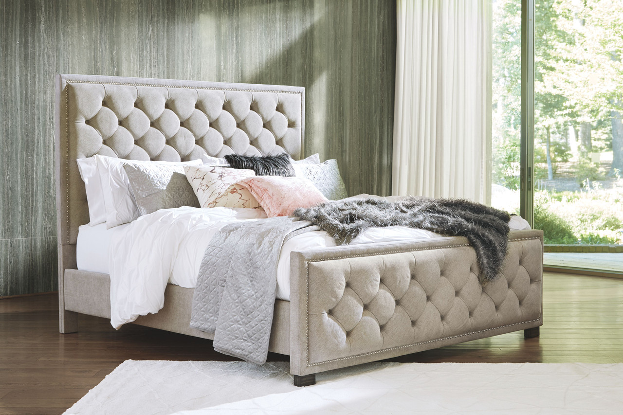 The Bellvern Gray Queen Upholstered Bed Available At Furniture Connection Serving Clarksville Tennessee And Ft Campbell Kentucky