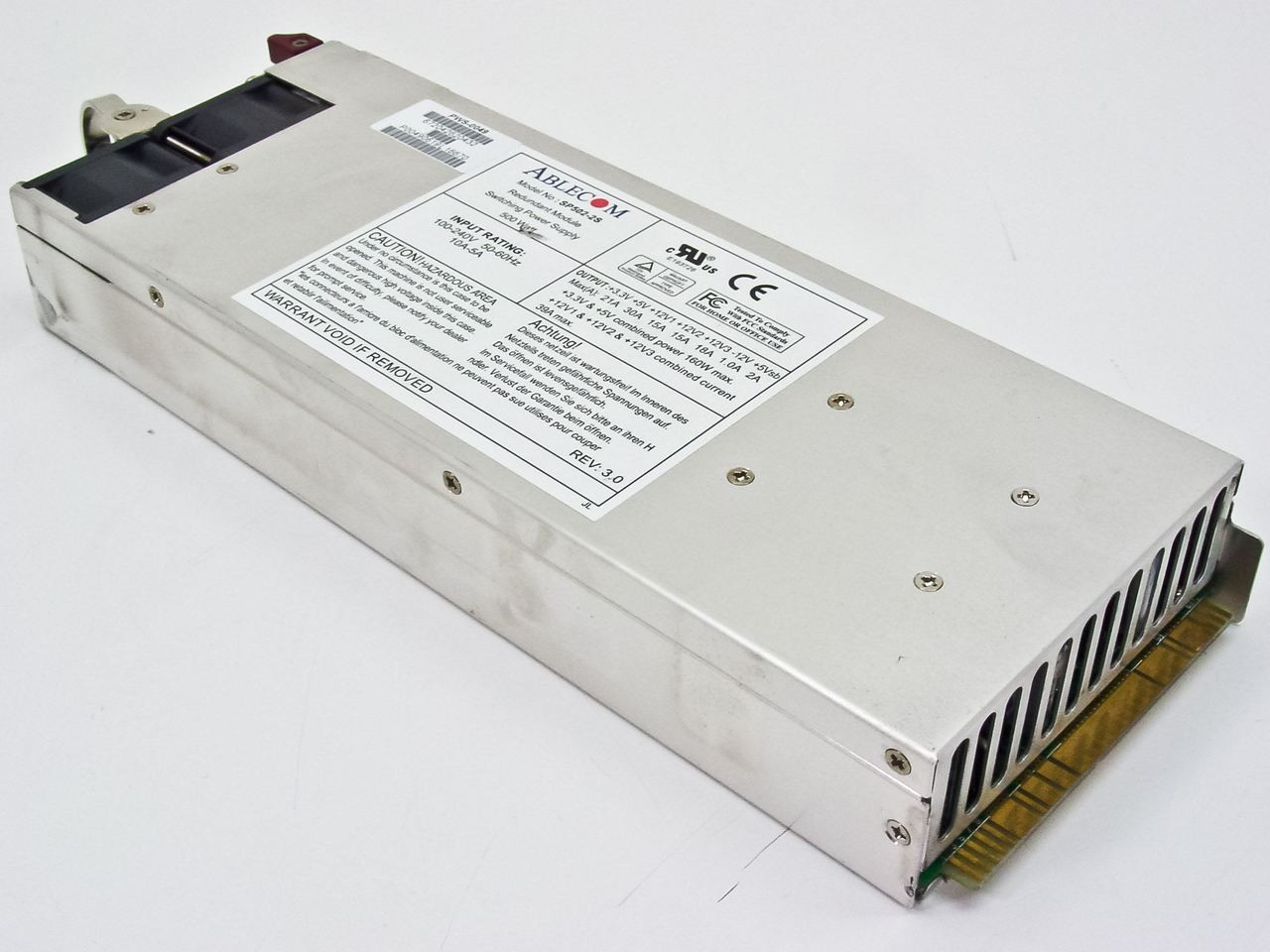 500 Watt Ablecom Redundant Module Switching Power Supply 500 Watt P Sp502 2s