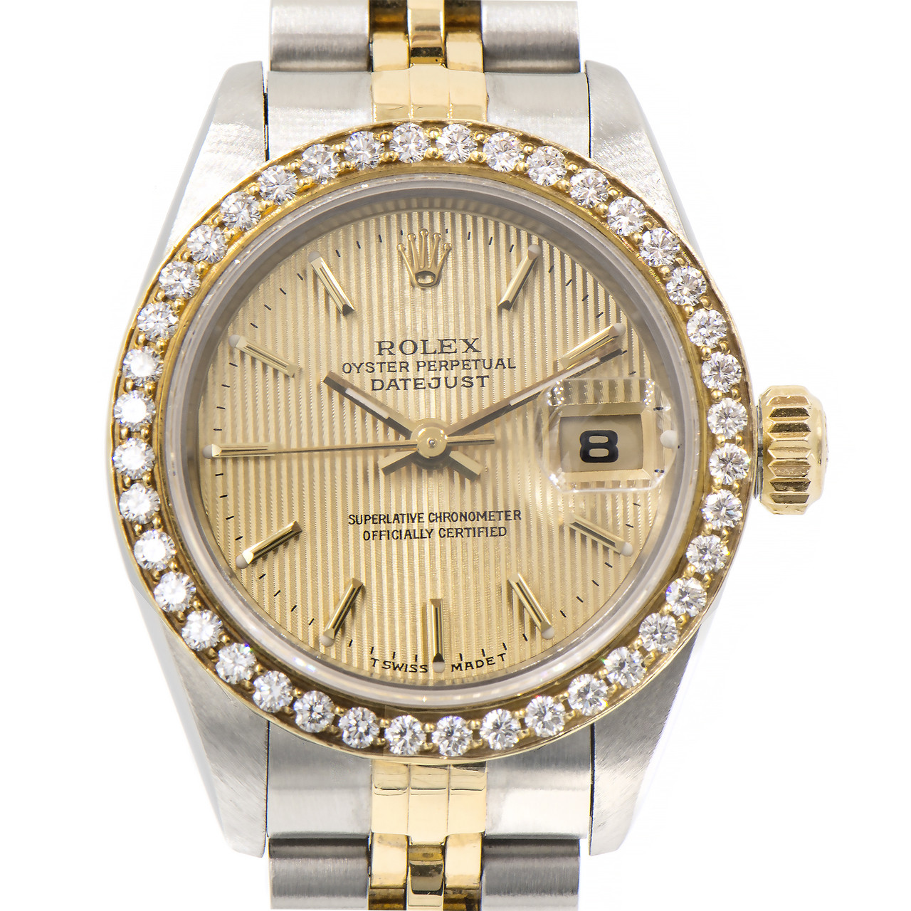 Rolex Ladies Watches Rolex Ladies Datejust Ref 69173 18k Gold Stainless Steel Diamond 26mm Watch