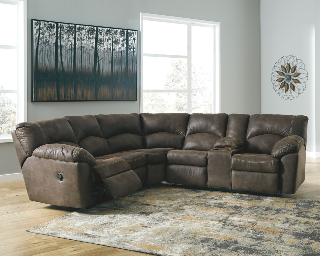 Tambo Canyon Laf Raf Reclining Loveseat Sectional On Sale At Stringer Furniture Serving Jackson Ms