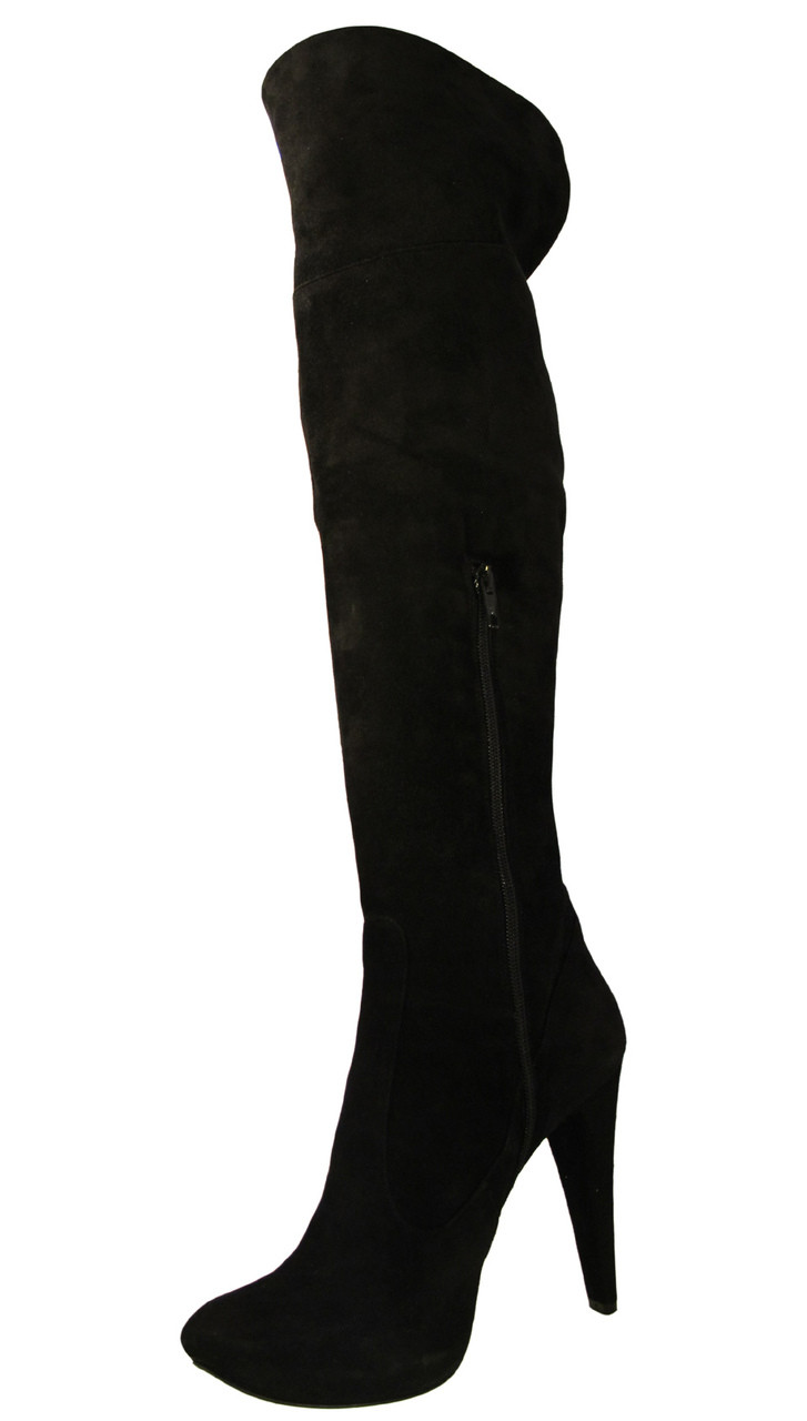 Giardino Principi Women S 4167 Italian High Heel Party Suede Over The Knee Boot