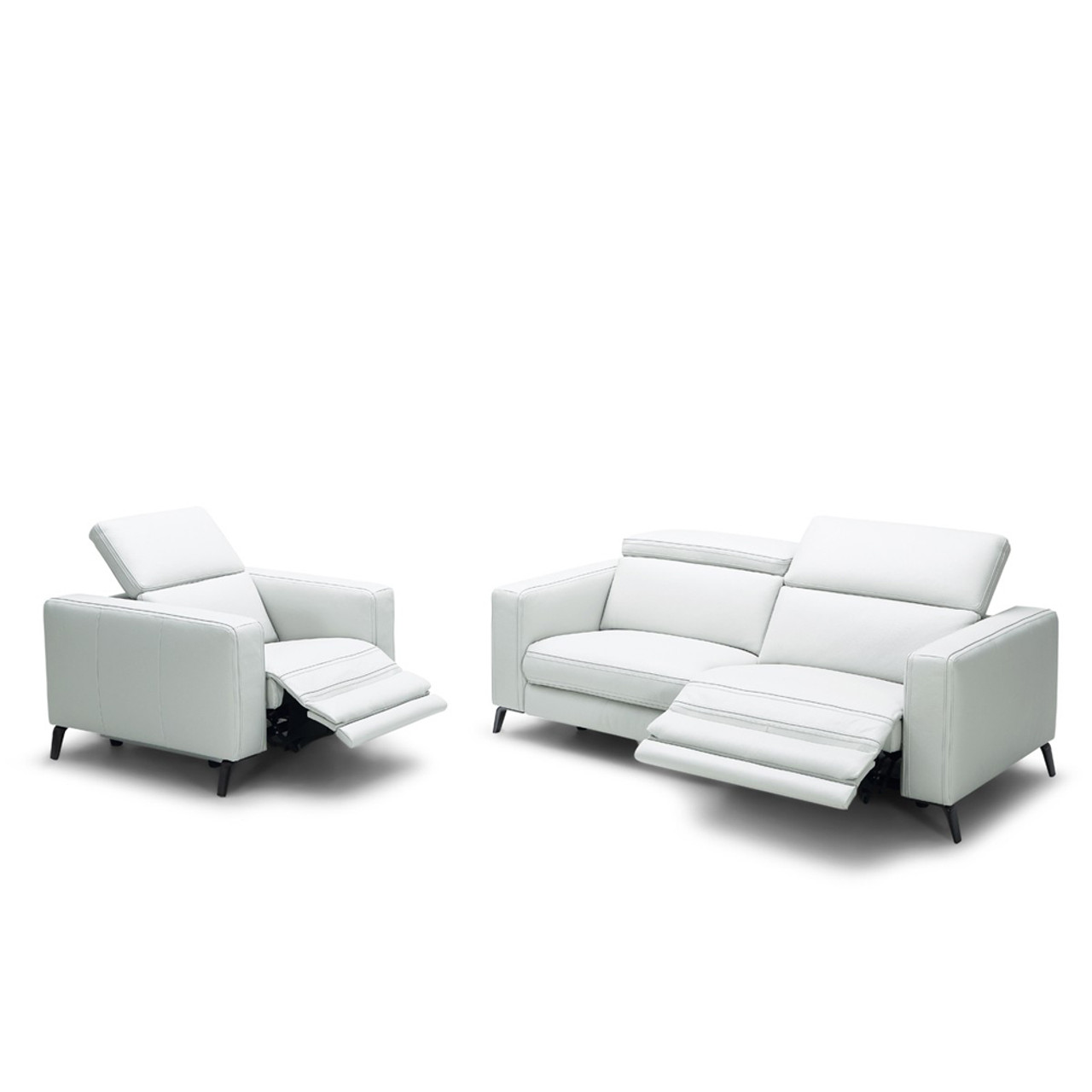 Divani Leather Sofa For Sale Divani Casa Roslyn Modern White Leather Sofa Set W Recliners