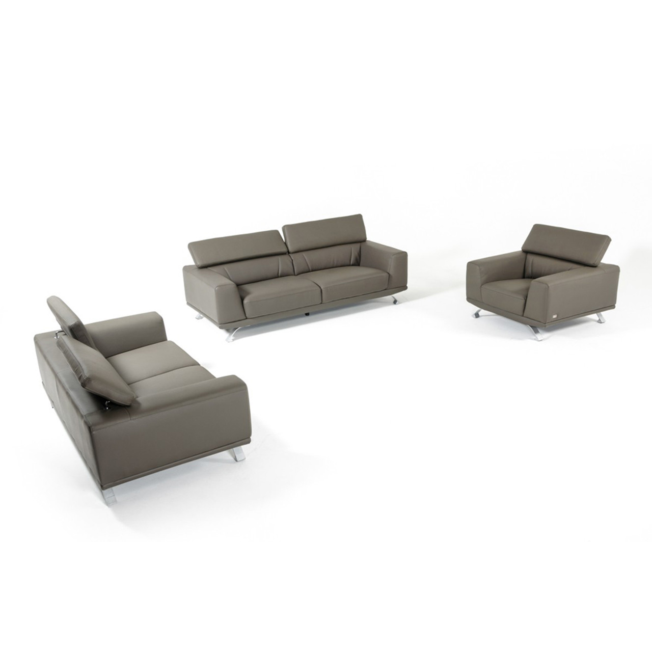 Divani Leather Sofa For Sale Divani Casa Brustle Modern Dark Grey Eco Leather Sofa Set