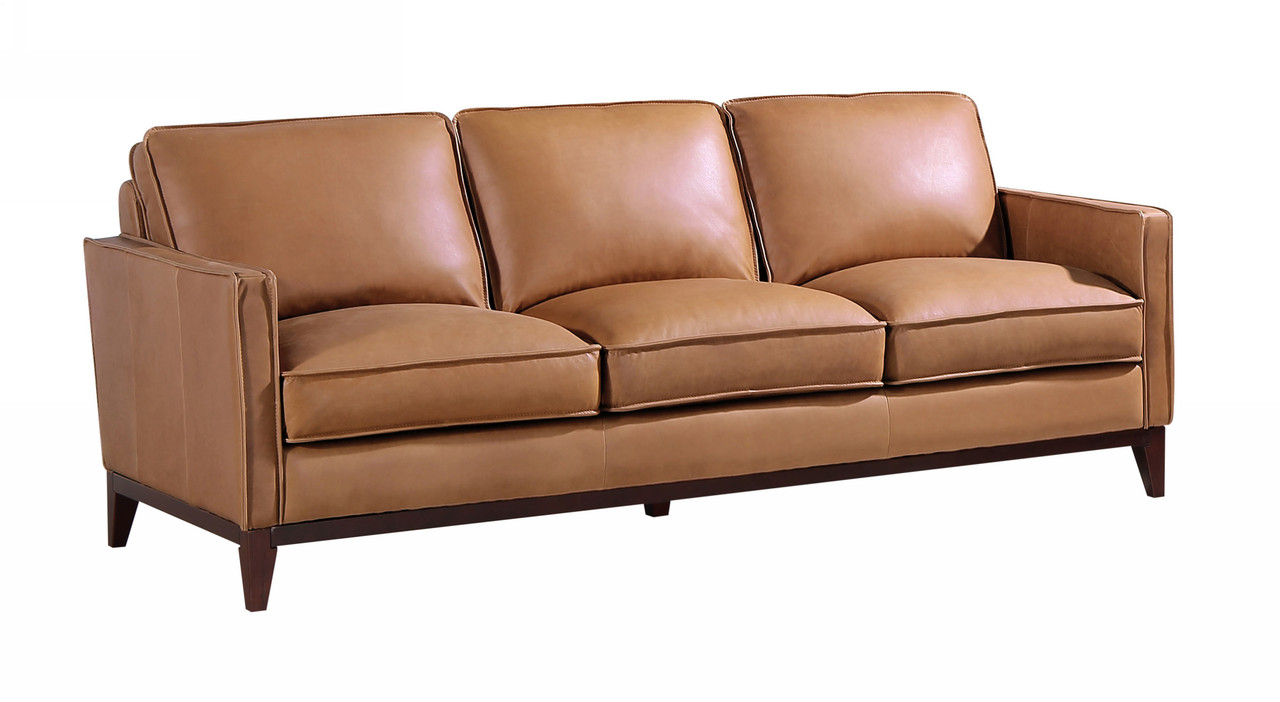 Divani Casa Naylor Modern Brown Italian Leather Split Sofa Lounge La