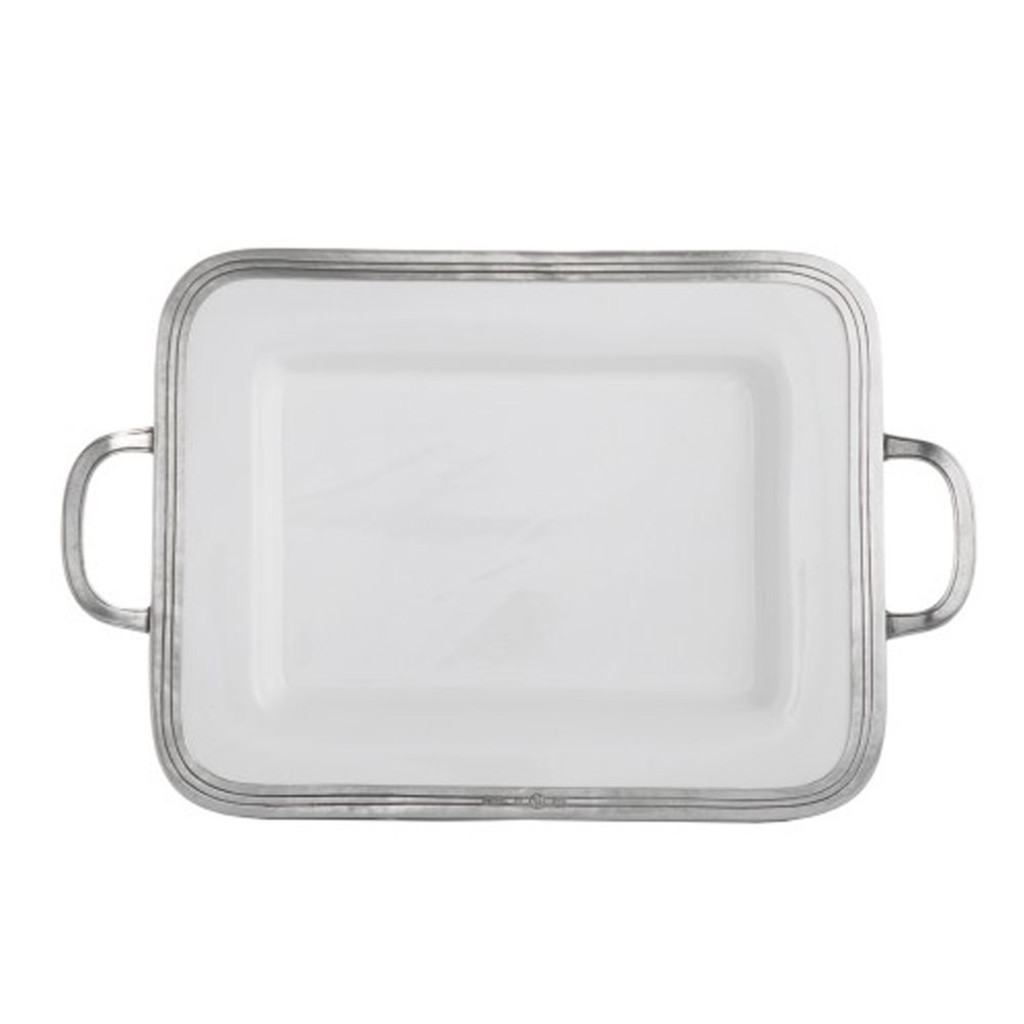 Arte Hd Upc Arte Italica Tuscan Small Rectangular Tray With Handles P5119m