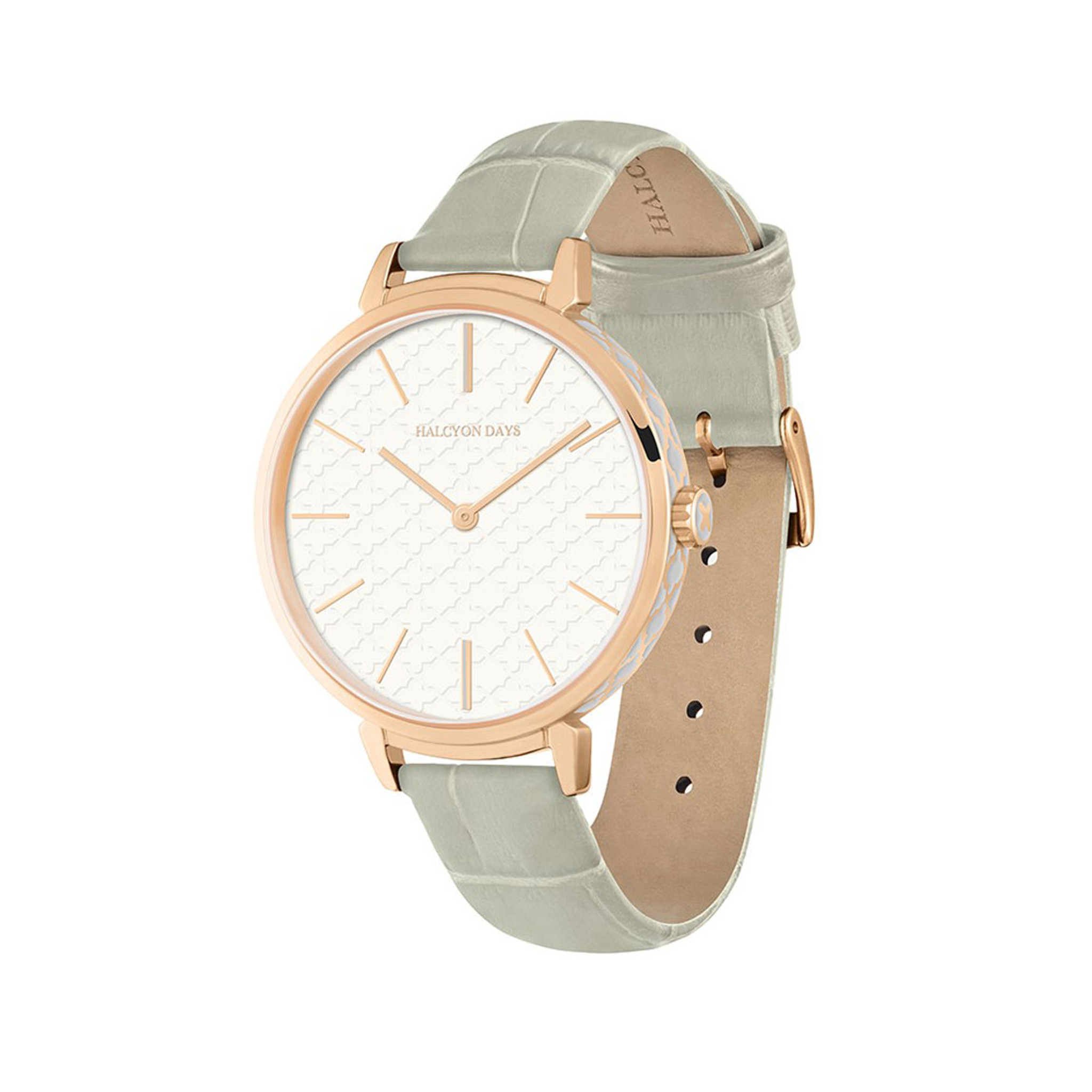 Leather Strap Rose Gold Watch Halcyon Days Agama Sports Leather Strap Watch Grey Rose Gold Wtasp17lerg