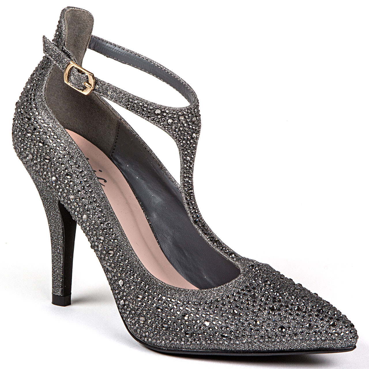 Party Chic Chic By Lady Couture Party Pewter Heels