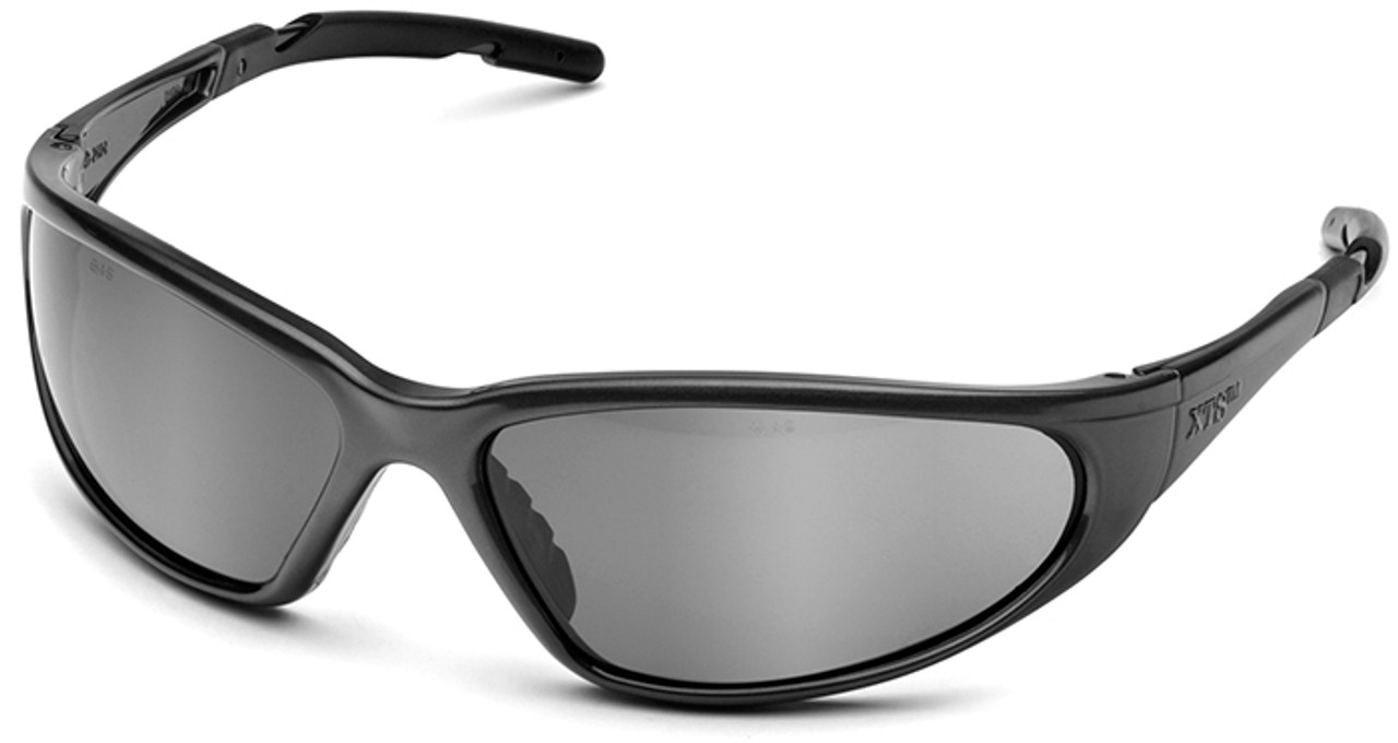 Mirror Frame Glasses Elvex Xts Safety Glasses With Black Frame And Silver Mirror Lens