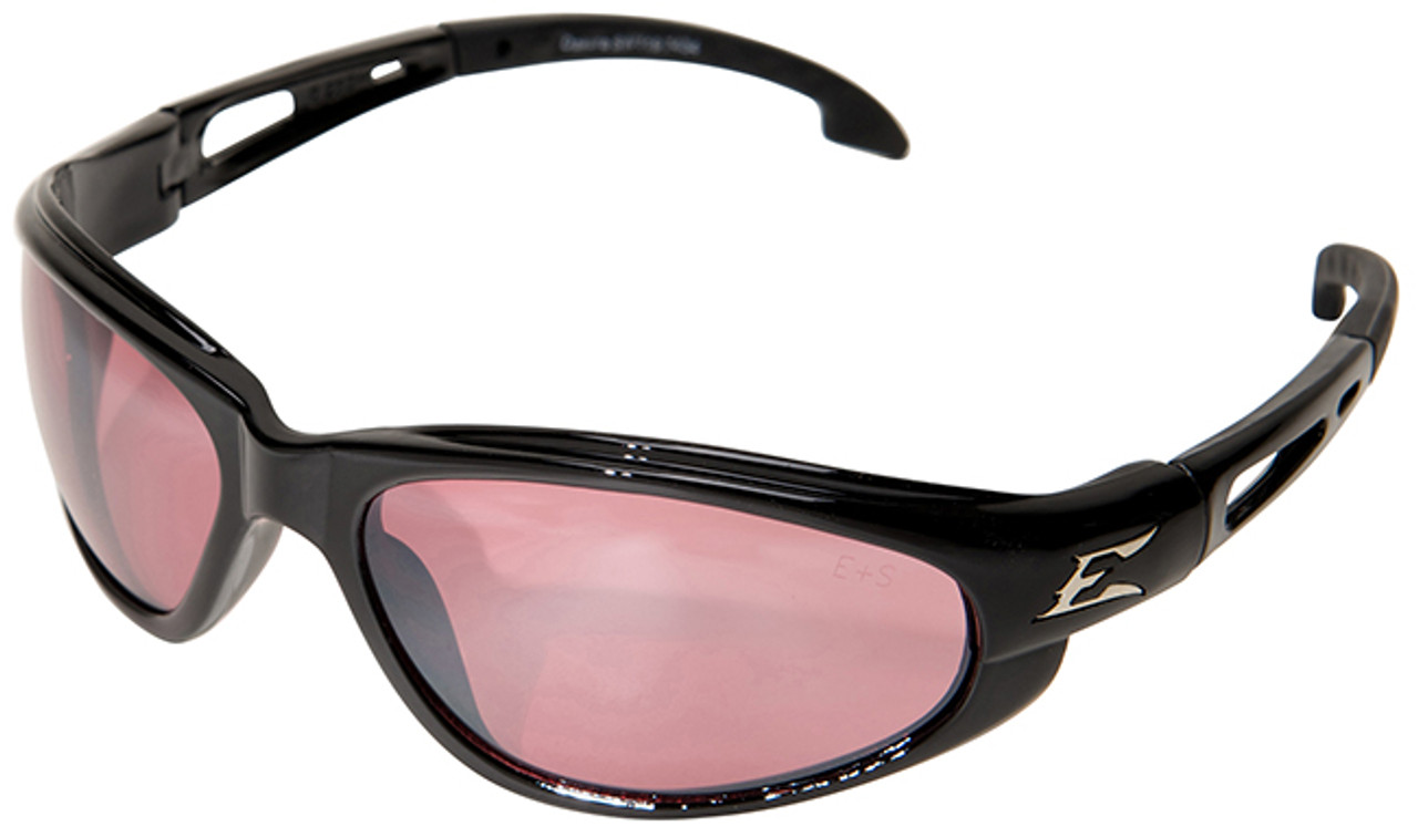 Mirror Frame Glasses Edge Dakura Safety Glasses With Black Frame And Rose Mirror Lens