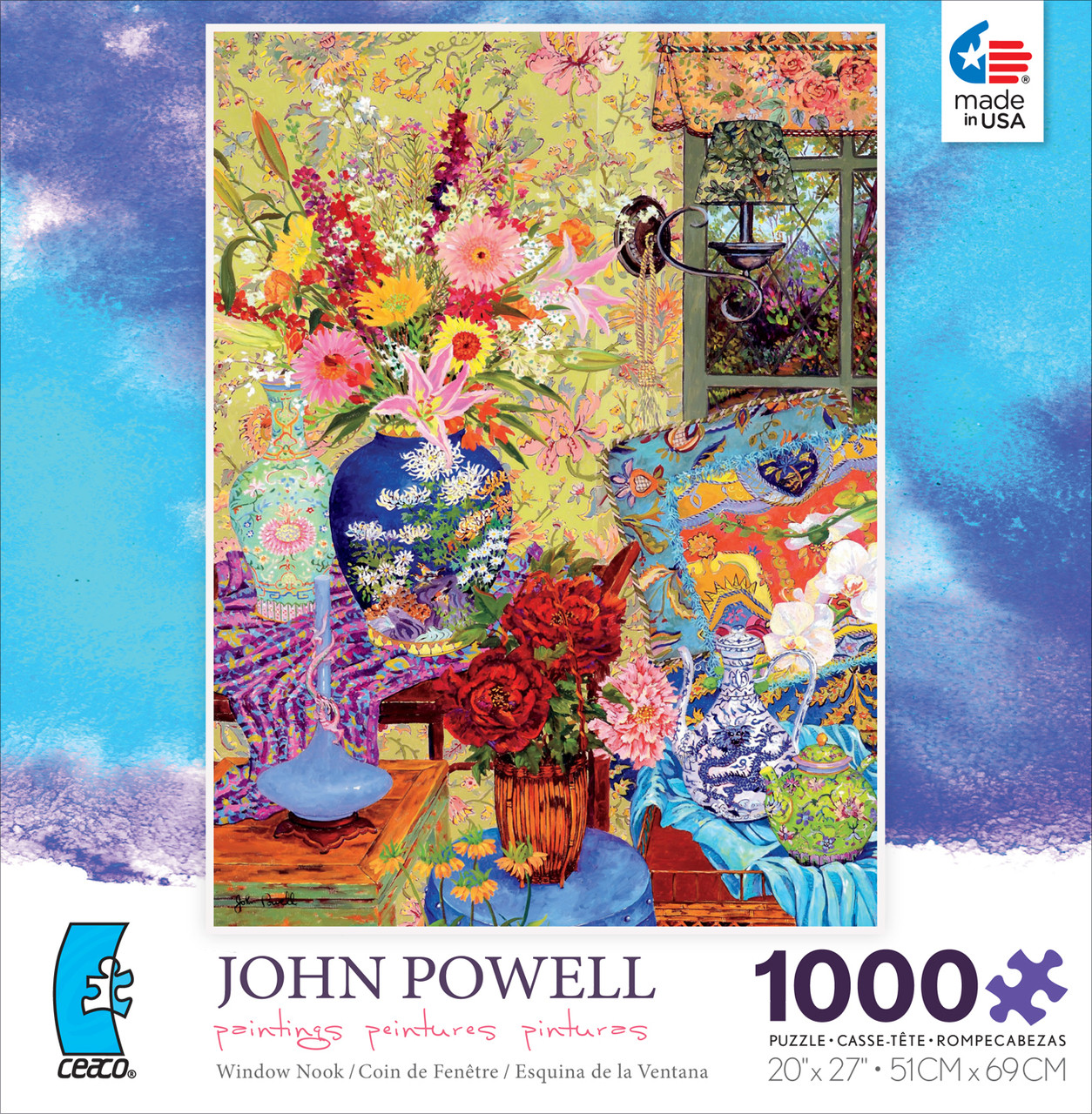 Api Pinturas John Powell Window Nook 1000pc Jigsaw Puzzle By Ceaco Discon