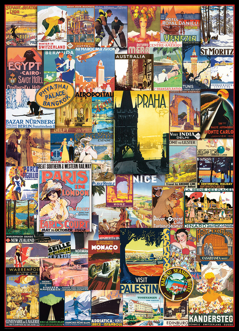 Berlin Puzzle Travel The World Vintage Ads 1000pc Jigsaw Puzzle By Eurographics