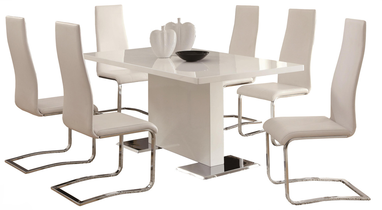 Modern Dining Room Furniture Lexan White Modern Dining Table