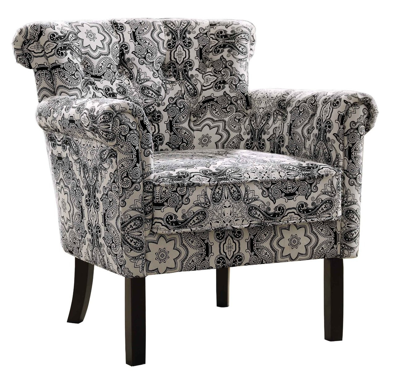 Accent Arm Chairs Melody Medallion Tuffted Back Accent Arm Chair