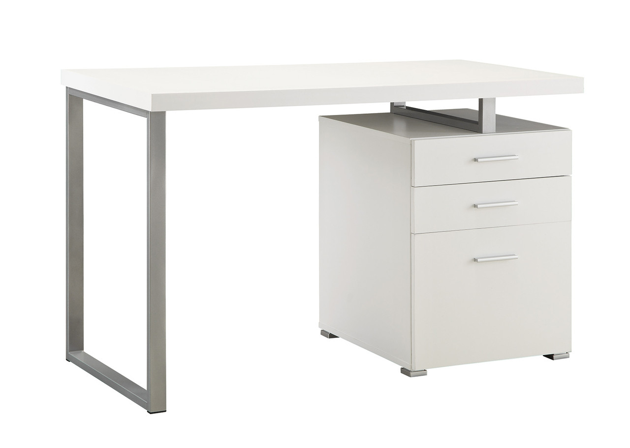 Desk With File Cabinet Iva White Desk With File Cabinet