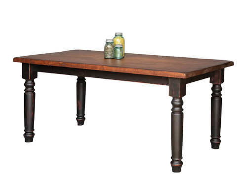 Amish Handcrafted 8 Foot Harvest Table Vintage