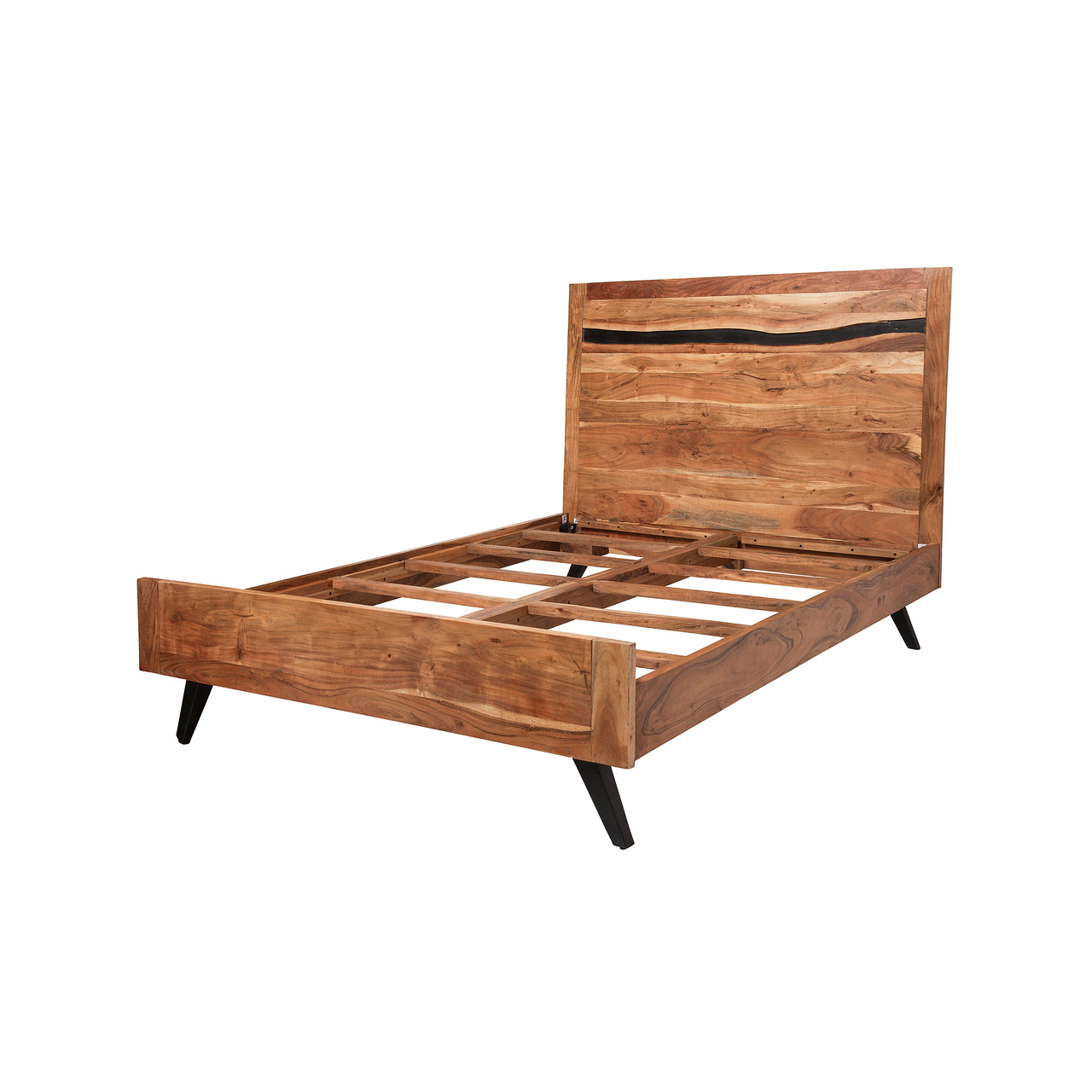 Queen Bed Frame Prana Reclaimed Mango Wood Queen Bed Frame