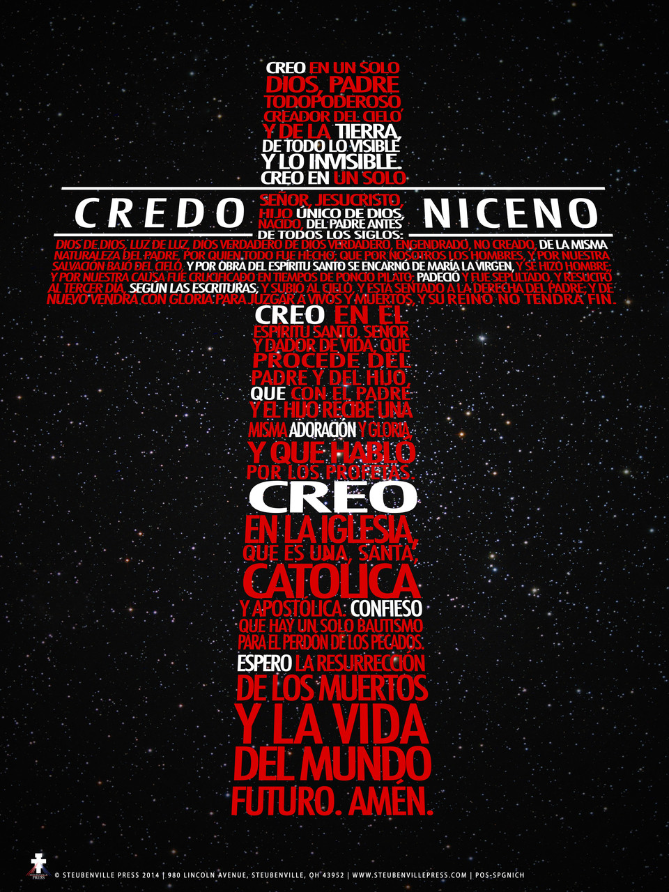 Poster In Spanish Spanish New Nicene Creed Poster