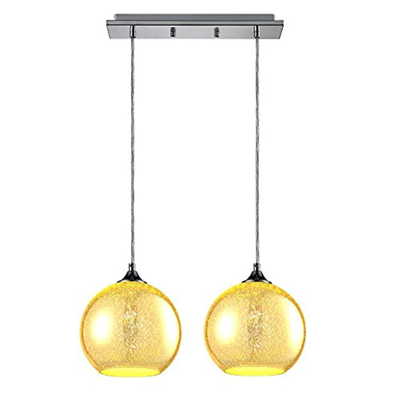Hanging Lamp Serenelife Home Lighting Fixture Dual Pendant Hanging Lamp Ceiling Light With 2 7 87 Circular Sphere Shaped Dome Globes Sculpted Glass Accent