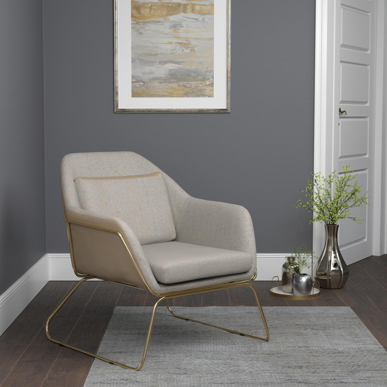 Coaster Beige Metal Sled Leg Accent Chair Beige 903981 On Sale At Spokane Furniture Company Serving Spokane Post Falls Coeur D Alene Wa Spokane Valley Post Falls And Coeur D Alene Id