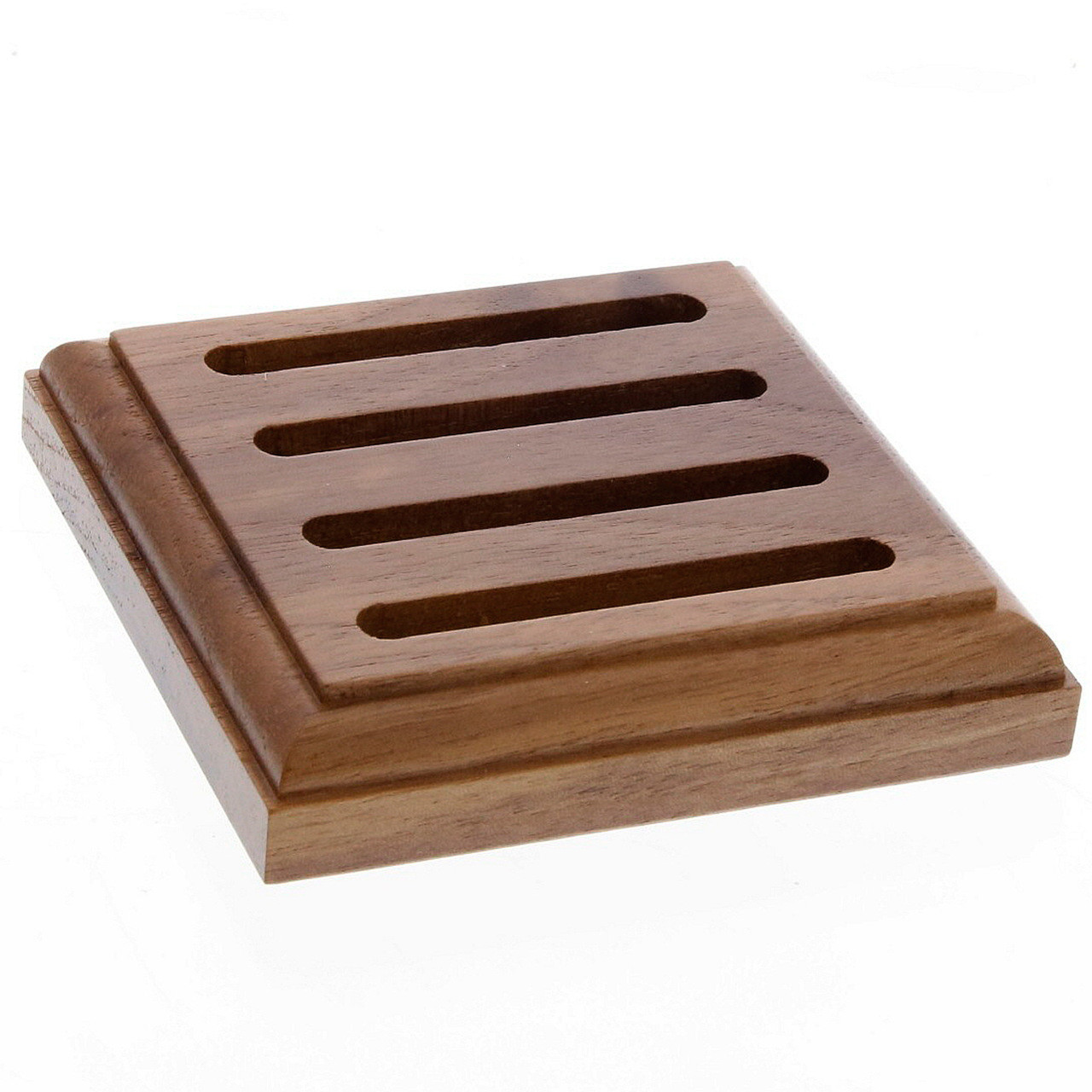 Wooden Coaster Holder 4 Slot Coaster Caddy