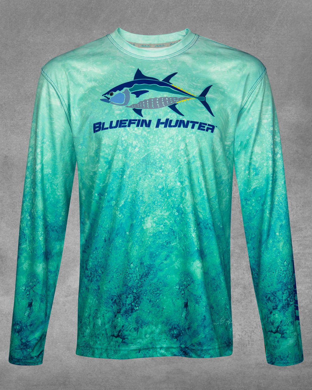 Stores Close To Me Green Marine Bluefin Hunter Upf 50 Long Sleeve Performance Shirt