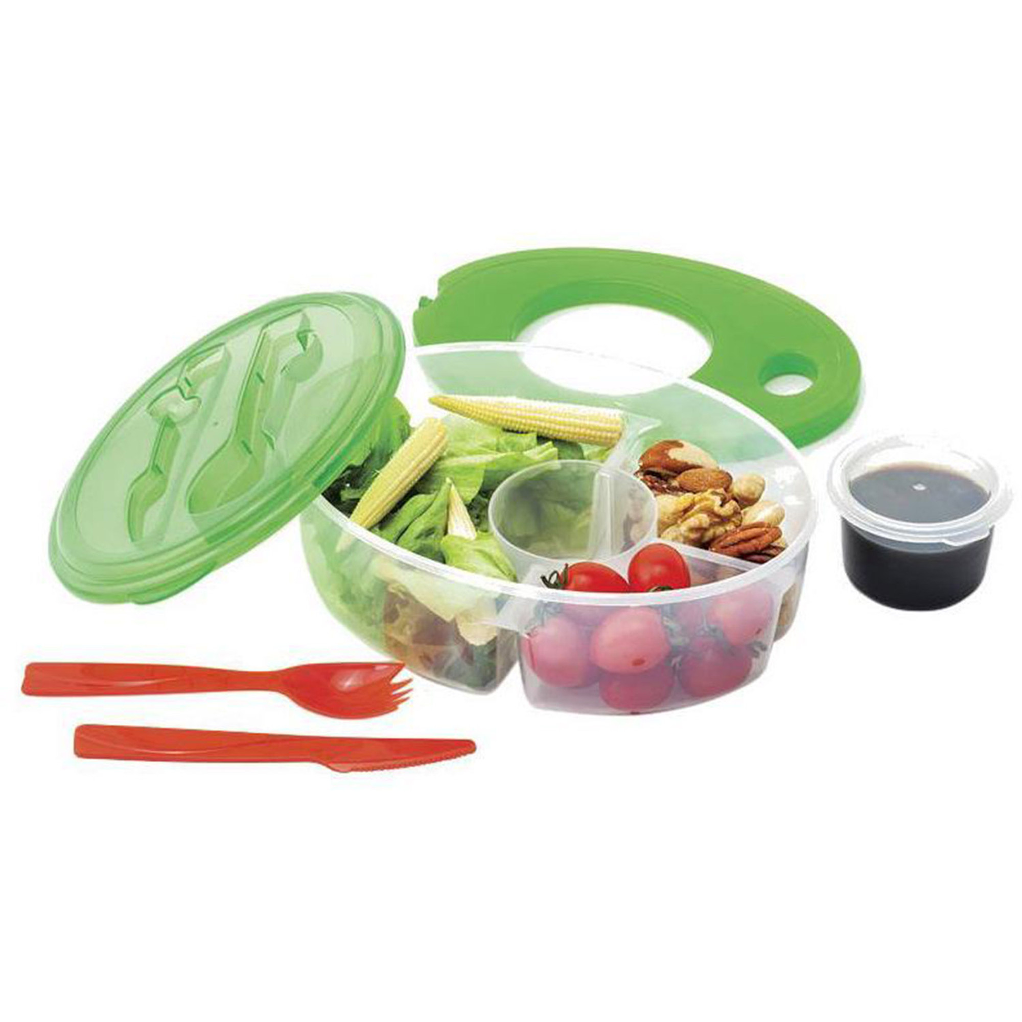 Altatac 6 Pc Container Salad Container Lunch Box Utensils Green