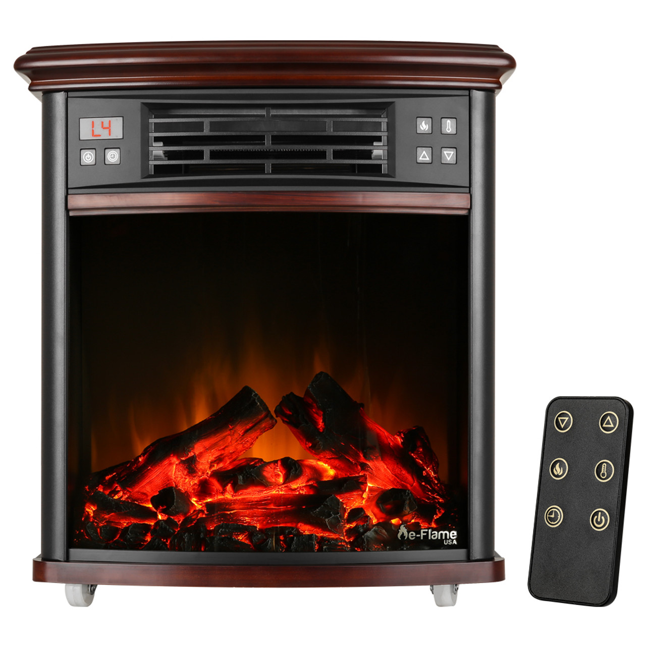 Space Heaters Fireplace Charleston Portable Electric Fireplace Stove With Remote