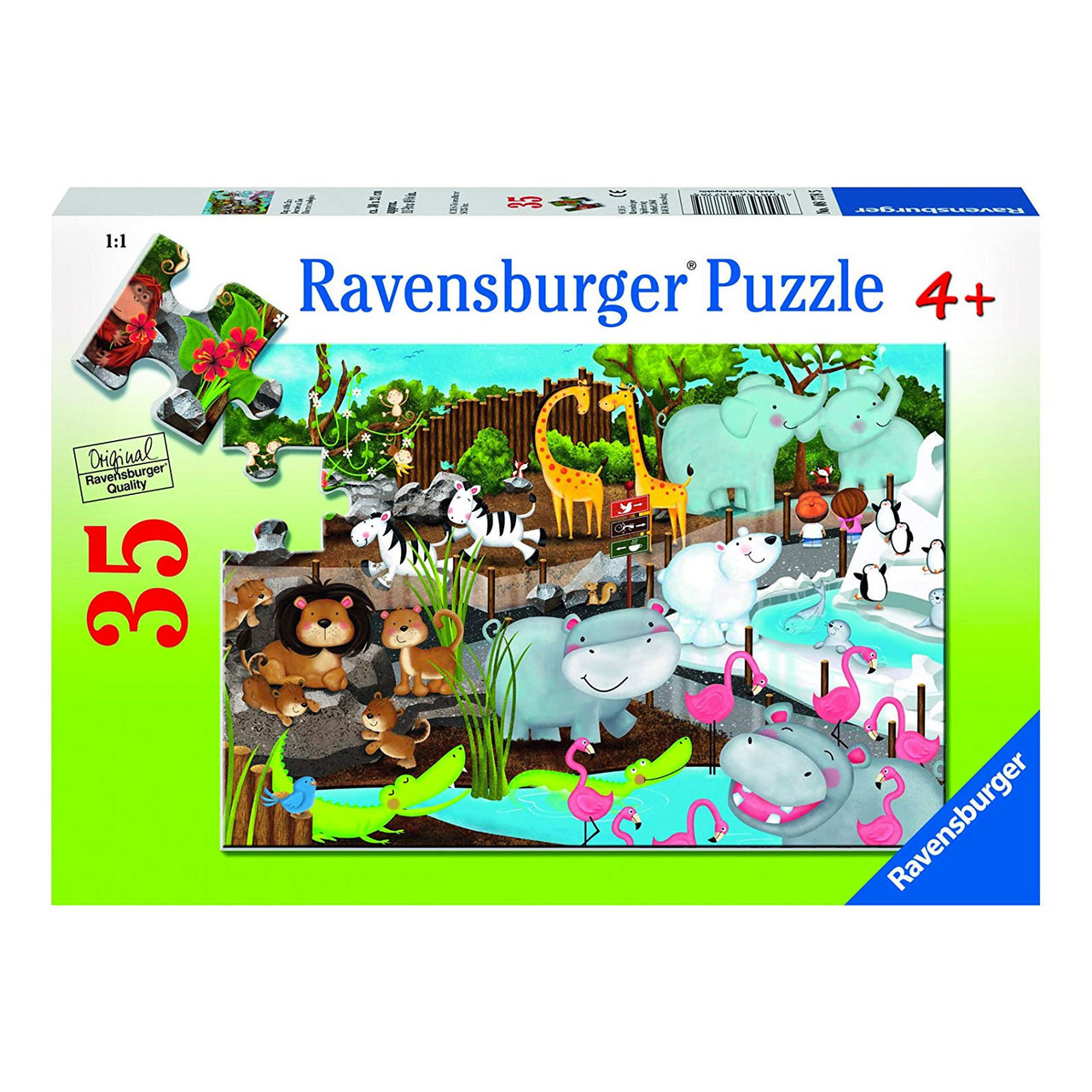 Puzzel Online Ravensburger Day At The Zoo Puzzle 35pc