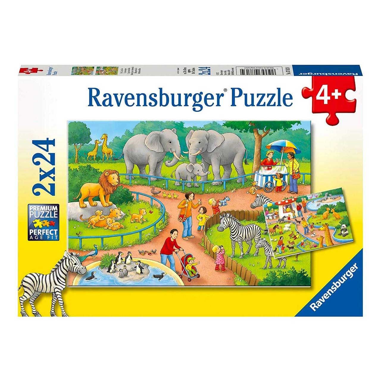 Puzzel Online Ravensburger A Day At The Zoo Puzzle 2x24pc