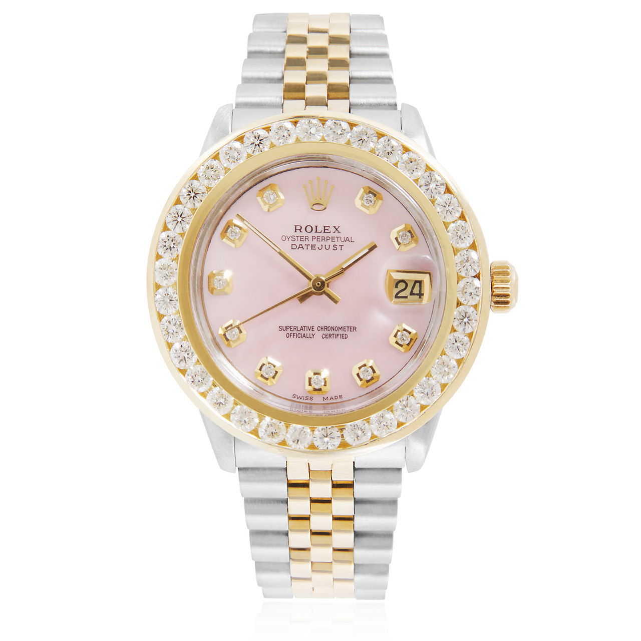 Rolex Ladies Watches Rolex Datejust 4ct Diamond Automatic Women S Watch