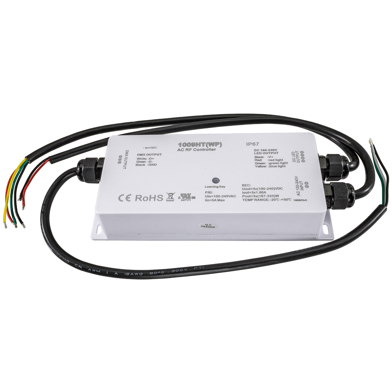 Led Strip Light Dmx Controller Dmx Rgb Rf Led Strip Light Weatherproof Controller 120 Volt