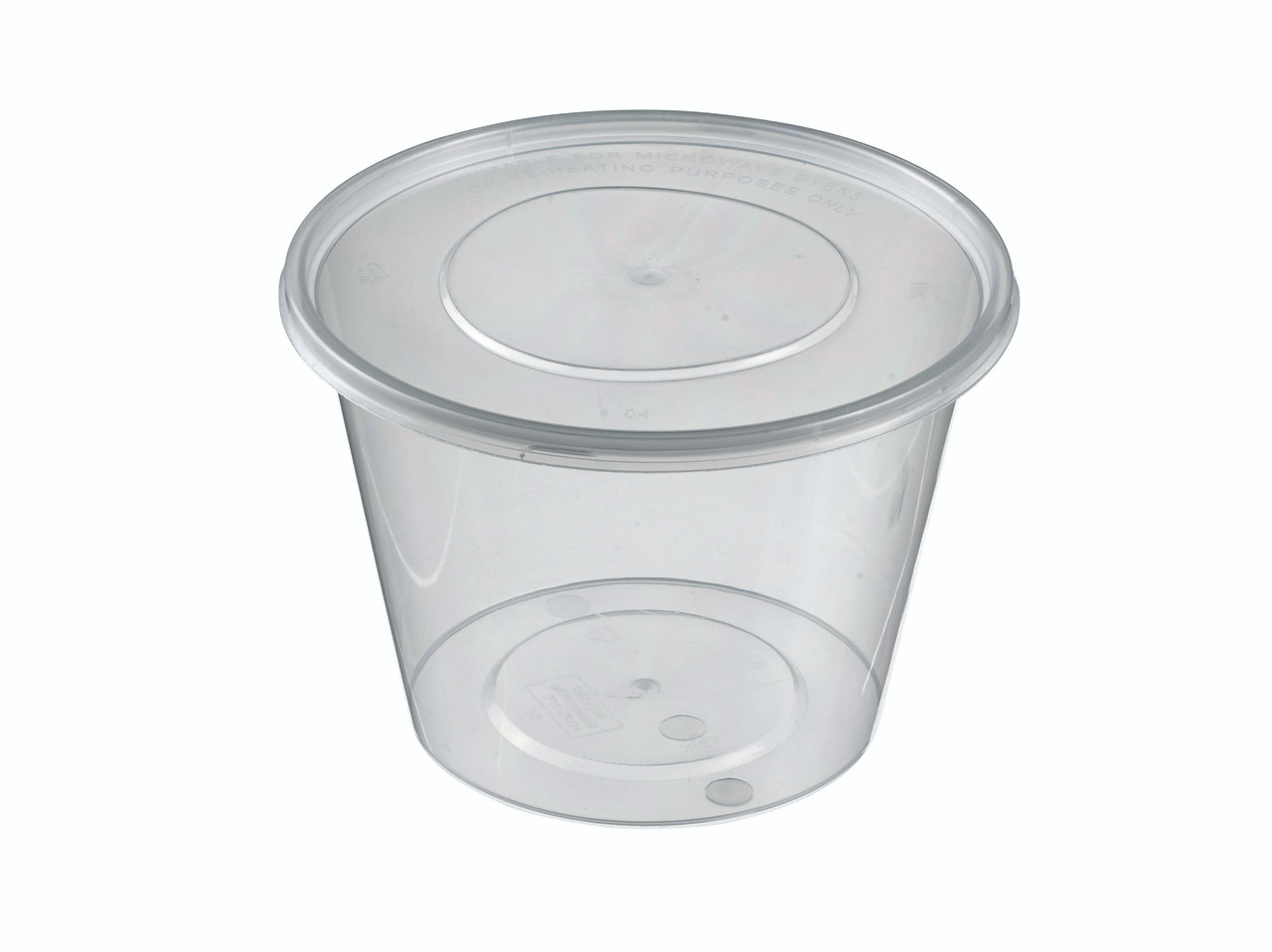 Round Container Lid Pp 500ml 16 9oz For To Go And Takeaway Solia Usa
