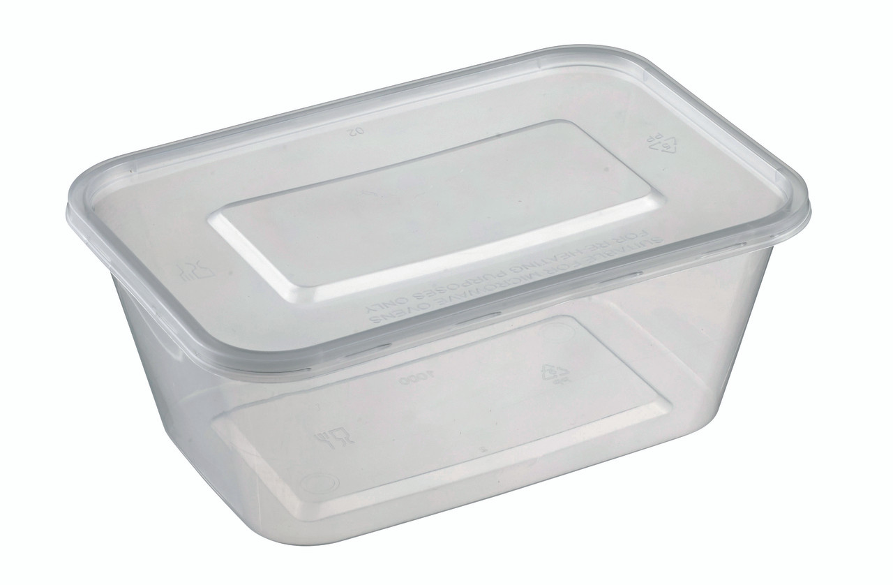 Rectangular Container Lid Pp 1000ml 33 8oz For To Go And Takeaway Solia Usa