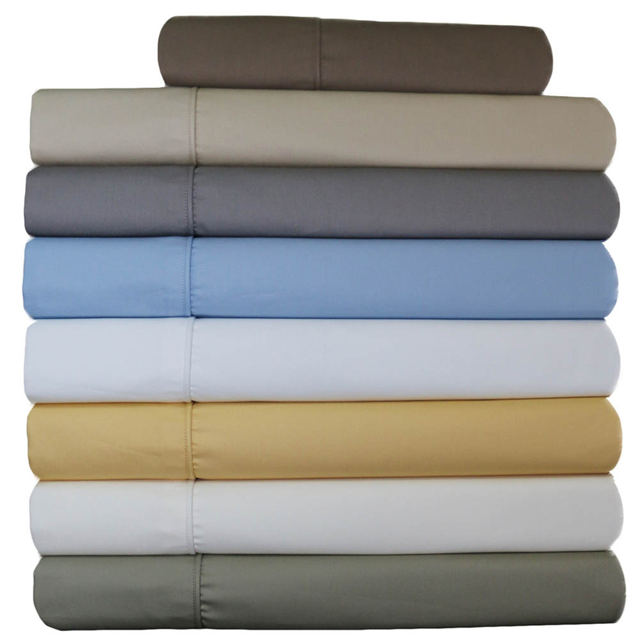 Deep Fitted Sheets Queen Size 22 Inch Deep Pocket Sheets Wrinkle Resistant Cotton Blend Bed Sheet Sets 650tc Solid