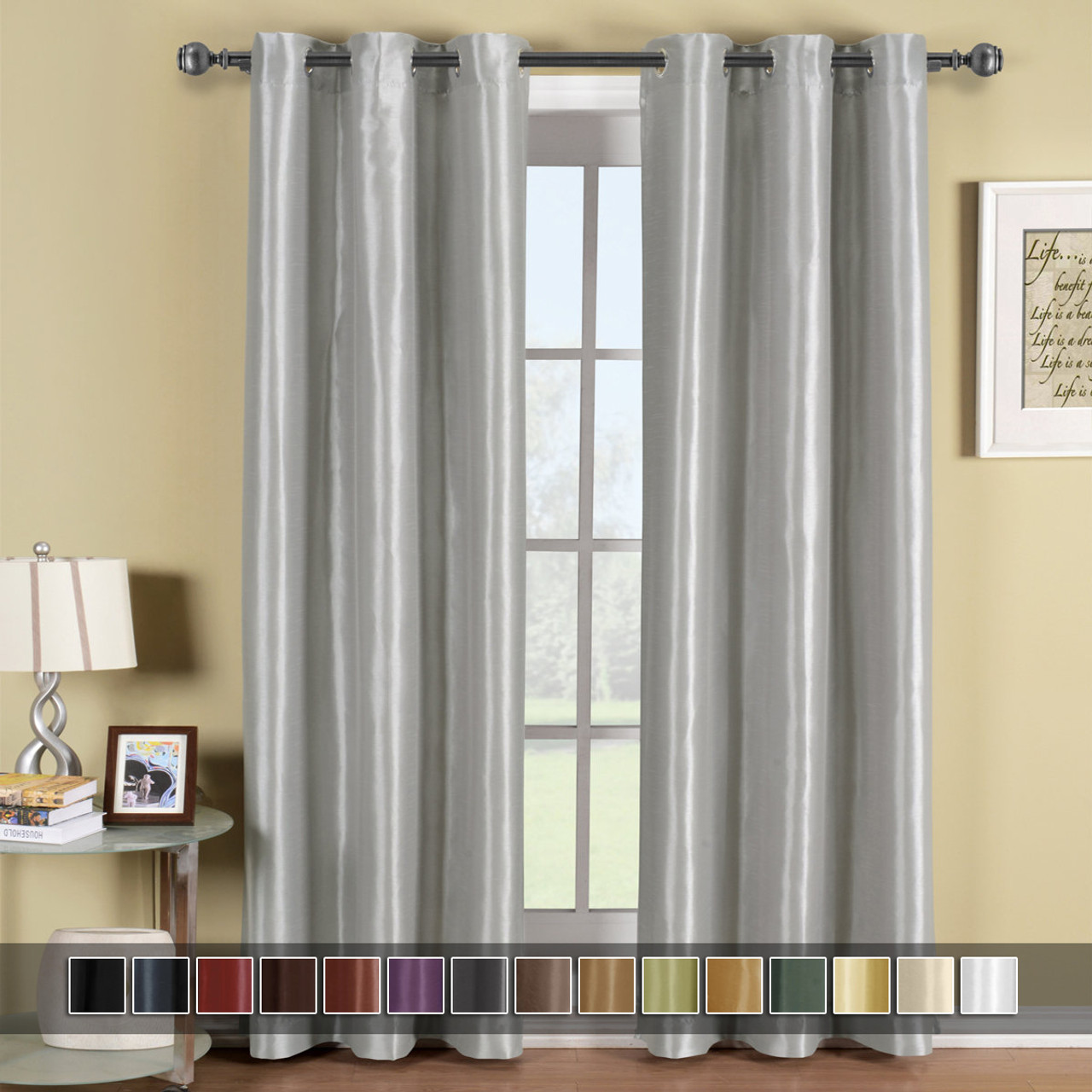 Curtains Blinds Galleria Grommet Blackout Thermal Insulated Tonal Stripe Window Curtain Panel Home Furniture Diy Mhg Co Ke