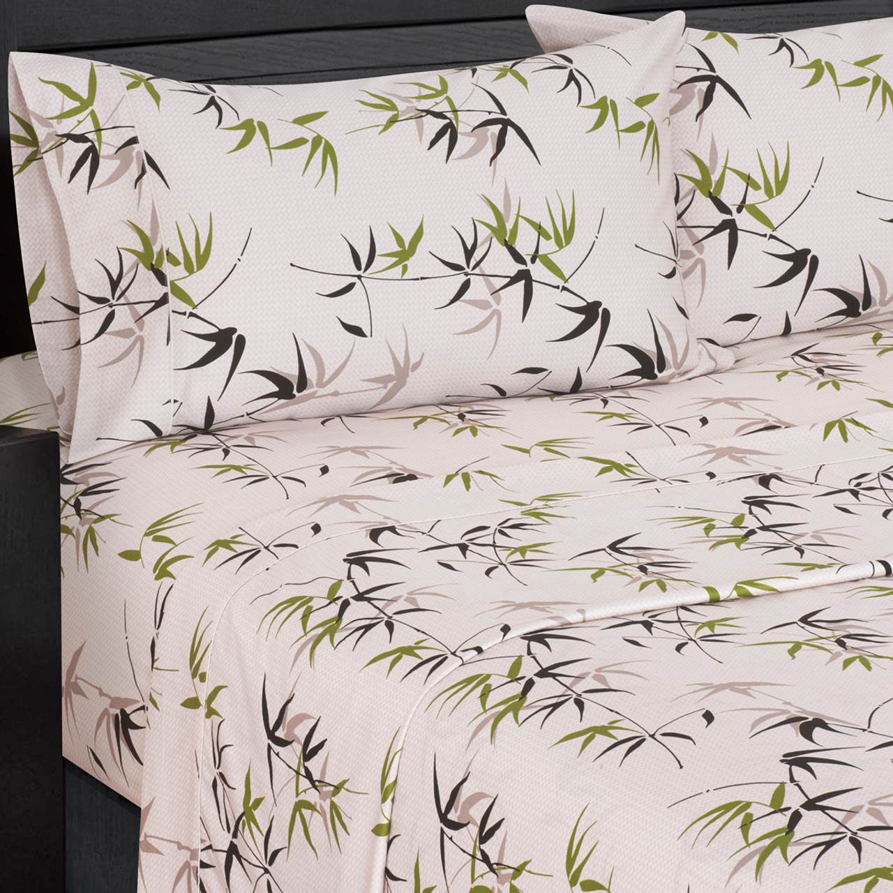 Printed Sheet Sets Fern 100 Percent Cotton Sheet Sets 300 Thread Count Per Square Inch