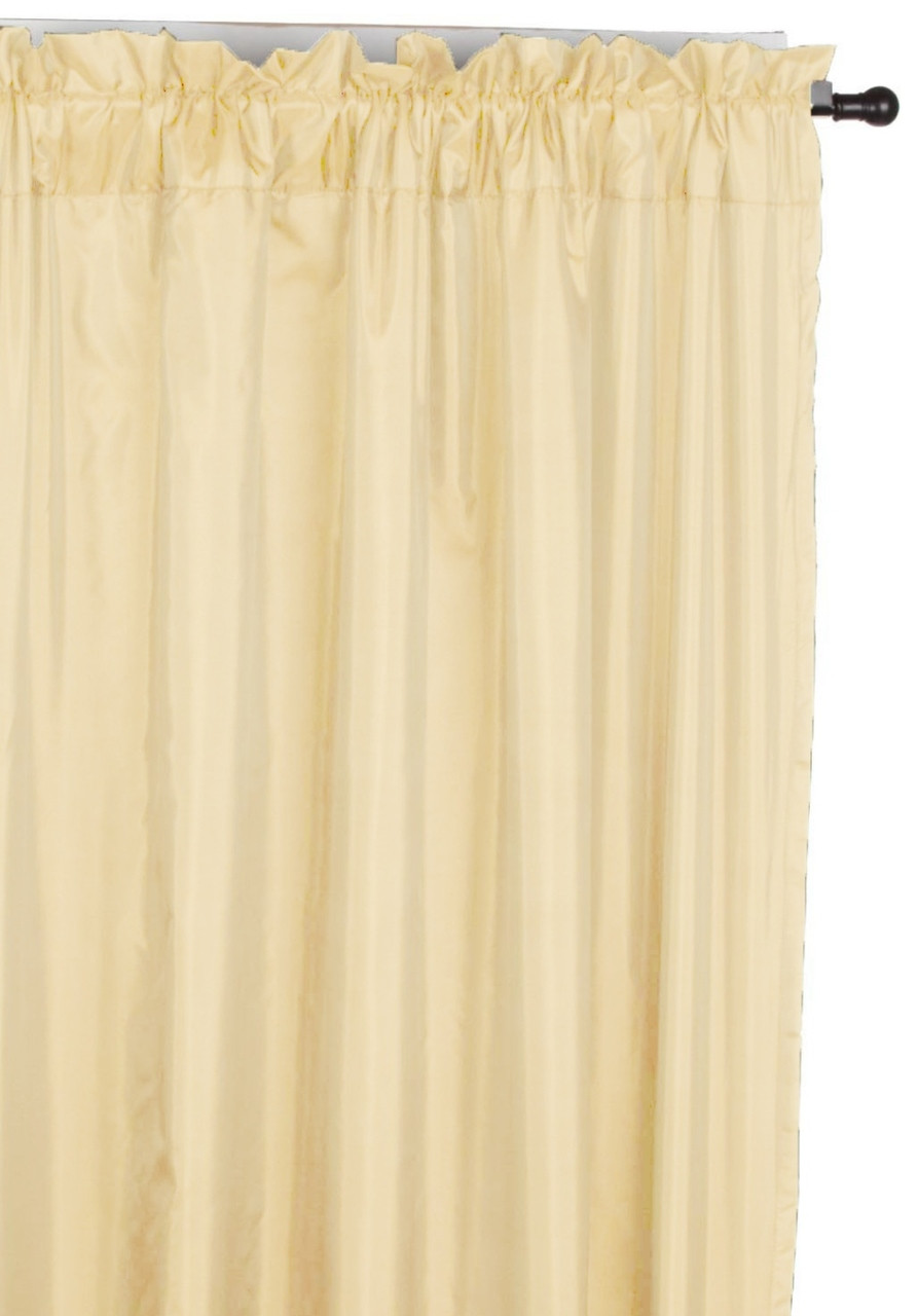 108 Long Shower Curtain Pair Windham Interlined Rod Pocket Wide Curtain Panels 108